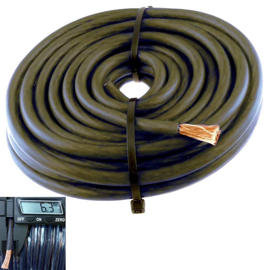 20ft Black 8 Gauge Primary Speaker Wire Or Amp Power