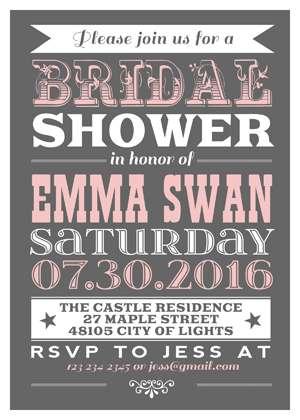 Vintage Poster Invitation