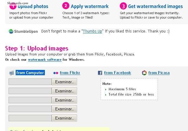 Marca de Agua Online