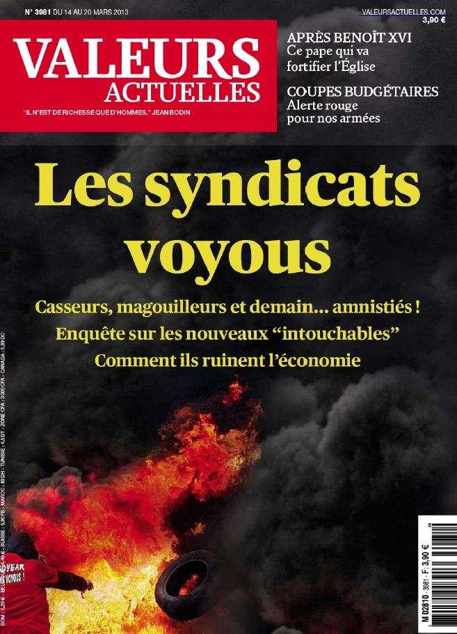 Valeurs Actuelles N°3981 du 14 au 20 Mars 2013