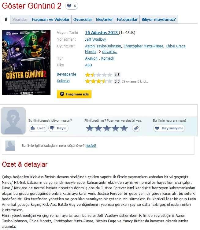 Göster Gününü 2 - 2013 Türkçe Dublaj 480p BRRip Tek Link indir